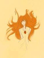 Flame Princess by moustacheme
