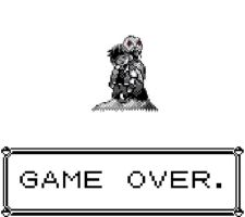GAME OVER Pokemon Red,Green, and Blue by EatherTrainer