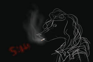 well heres to smoking alone by Anhurs