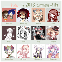 2013 art summary by rhia-kun