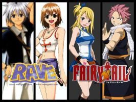 Rave Master and Fairy Tail by lunaheartneel16