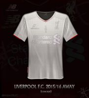 Liverpool third away 2015/16 Silver/white by kitster29