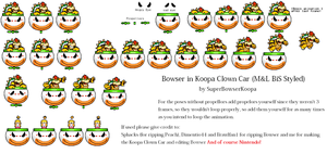 Koopa Clown Car MandL Style Sprite Sheet by RosalinaSama