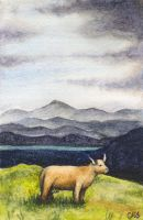 Cow and Mountains by christinaks