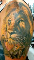 The Lion King by alekspunktattoos