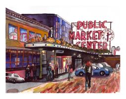 Seattle's Pike Place Market by jenthestrawberry