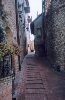 Street in Assisi, Italy by Gryffindork