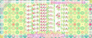 Pink Flowers Pixel Patterns by brenda by Coby17