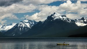 Mountain Lake Kayaking by TimGrey