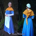 Medieval Lady - Gold Linen Hood by DaisyViktoria