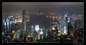 City of lights HK by satnitefever