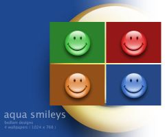 aqua smileys by bedlamboy