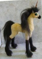 Buckskin Unicorn Art Doll by RoseThistleArtworks
