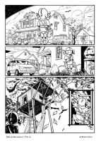 Halloween page 1 b/w by andrearsandbabs