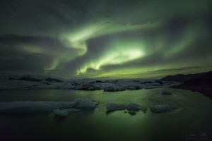 Northern Lights above the Glacier Lagoon by LinsenSchuss