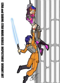 Ezra and Sabine: STAR WARS REBELS by Inspector97