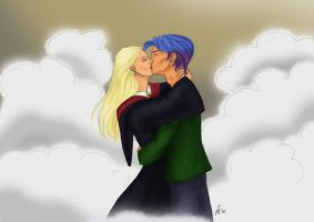 """Teddy's snogging Victoire"" by Mar17swgirl"