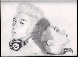 GD And TOP of big bang by GabbeyMarie
