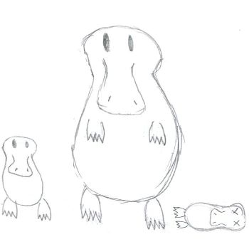 Platy and his family by InaginaryPlatypus