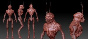 District 9 Alien Sculpt by Grimnor