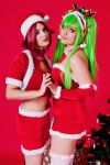 Christmas time C.C. and Kallen by Aotenshi