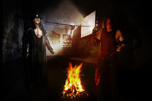 Wallpapers UnderTaker and Kane by BAT-MAN-GFX