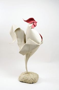 Origami Rooster 2014 by HTQuyet