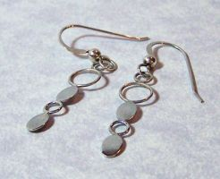Silver Ovals and Rings Earrings by SoundwarpSG-1
