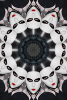 Victorian Gothic Clown Kaleidoscope by CarlosAE