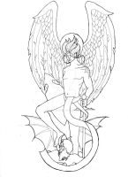 Tattoo: Archangel Michael by RoseCarballeira