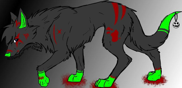 InSaNiTy Wolf Adopt 5 points ::CLOSED:: by RykoKat