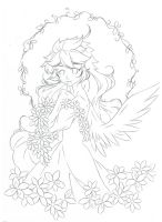 Printemps Mere .:lineart:. by Angelic-Blossoms