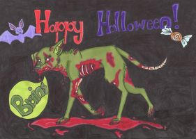 Zombie Mutt by Cobalt-Flame