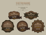 Retro badges by odioART