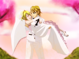 Link x Lucy's Wedding ~Request~ by 0Eka0