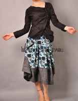 Blue Victorian Pleated Skirt16 by yystudio
