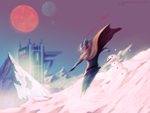 Hyper Light Drifter fanart [Snow Ride] by Jihelll