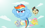 Dashing Rainbows (desktop version) by AleximusPrime