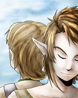 Link and Ilia by shorty-antics-27