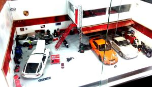 Porsche Miniature Garage Set by toyonda