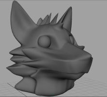 3D Fox Head by MadCheshireFox