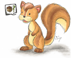 Squirrel Marker by Tikara-the-Mew