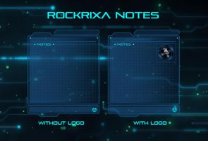 Rockrixa Notes for Rainmeter by rockriscia
