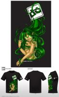 Nature Nymph_T-Shirt Contest by BananaWork