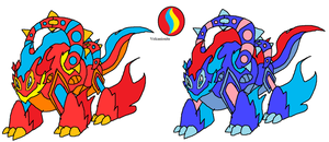 Mega Volcanion remade by YingYangHeart