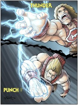 Masters of the Universe Thunder Punch He-Man pt 1 by Killersha