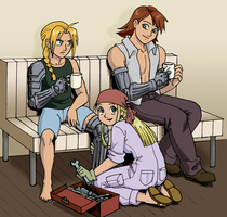 FMA-Automail Tune Up colored by queenbean3