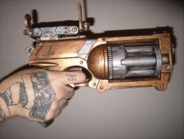 SteamPunk Space Pirate revolver01 by JApgar