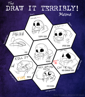 Draw It Terribly Meme (feat. Sans) by RhinestoneArts