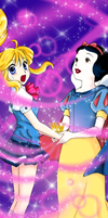 Kilala and Snow White - a Kilala Princess coloring by augustanekochan